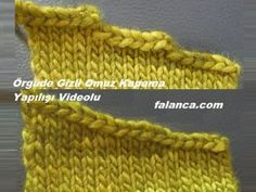 Bu gün sizlere yine örgüde kesim tekniklerinden biri olan, örgü omuz kesimi… Today, I will talk to you about knitting shoulder cut which is one of the cutting techniques in knitting. We have illustrated many knitting cutting techniques before Baby Knitting Patterns, Knitting For Kids, Crochet For Kids, Knitting Stitches, Crochet Baby, Knit Crochet, Crochet Patterns, Crochet Motifs, Knitting Videos