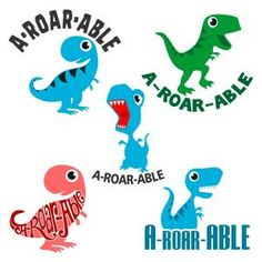 Animated A-Roar-Able Baby Dinosaurs Pack Cuttable Design Cut File. Vector, Clipart, Digital Scrapbooking Download, Available in JPEG, PDF, EPS, DXF and SVG. Works with Cricut, Design Space, Sure Cuts A Lot, Make the Cut!, Inkscape, CorelDraw, Adobe Illustrator, Silhouette Cameo, Brother ScanNCut and other compatible software. A great choice for kids.