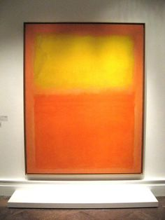Brings back memories of one of the best days of my life...experiencing the Rothko retrospective at the National Gallery. Drinking in the colors and energy, I felt so alive and peaceful. You must experience Rothko's work in person to appreciate it.