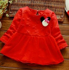 Beautiful party wear  red dress❤❤❤age 2-3 3-4 years