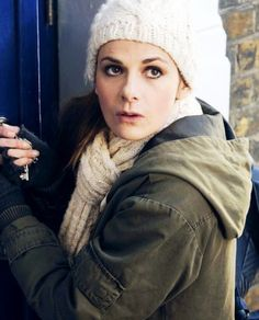 Is it just me or does it look like Louise is trying to break into the TARDIS?