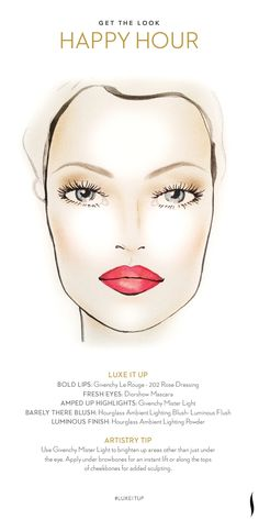 Get the Look: Happy Hour. How do you #LuxeItUp? #Sephora #Givenchy #Hourglass #Dior #MarcJacobs #beauty #makeuptutorial