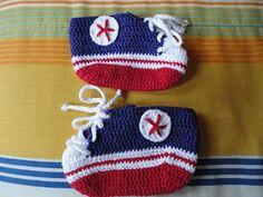 Teia de Carinhos: Novo All Star em croche
