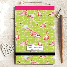 Notepad - Flamingo Green