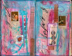 art journal by curbsidetreasure: love her painted pages