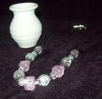 Elegant pink crystal necklace. Great for breast cancer awareness. FREE SHIPPING $19.98