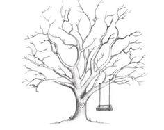 Druckbare handgezeichneten Hochzeit Fingerabdruck Baum