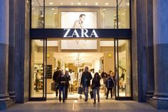 Zara shop, Passeig de Gracia, Barcelona