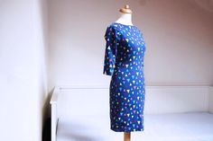 This is my sewing pattern for ladies dress called JACKELINE. Most popular in my patterns eshop. Easy to sew. See more on my eshop. Dress Sewing Patterns, Diy Dress, Sewing For Beginners, Slow Fashion, My Design, High Neck Dress, Popular, Dresses, Women