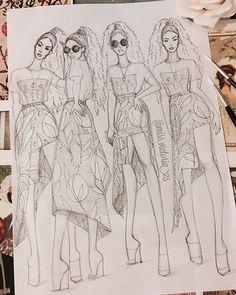 Best Ideas For Skirt Fashion Illustration Watercolors Fashion Illustration Sketches, Fashion Sketchbook, Fashion Sketches, Art Sketches, Illustration Art, Zendaya, Skirt Fashion, Fashion Art, Fashion Figures
