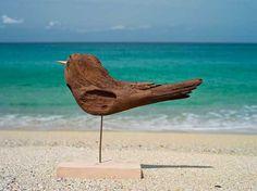 #流木の鳥ー5 ★  #流木 #流木アート #屋久島アート #インテリア #Birds of #driftwood #Interior