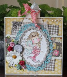 Happy Birthday/Mermaid card, made with Magnolia  Stamp
