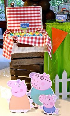 Celebrate with Cake!: Peppa Pig Dessert Table (click post to view more pictures)