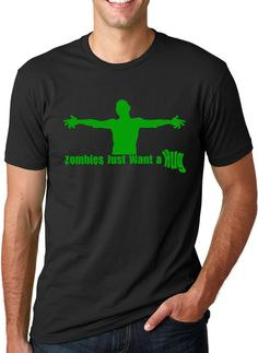 MENS Zombies Just Want A Hug T-Shirt zombie apocalypse, walking, undead, duty, dead, horror, fear, halloween costume S-5XL