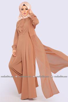 T-1007 Tesettür Tunik+Bone-Tunika Hijab-Abaya-Mit Kopftuch