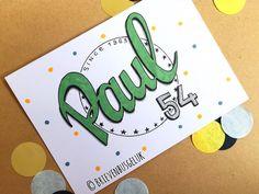 26 vind-ik-leuks, 1 reacties - Brievenbusgeluk (@brievenbusgeluk) op Instagram: '• Paul 54 • © . . #inopdracht #custommade #brievenbusgeluk #paul #happybirthday #birthdaycard…'