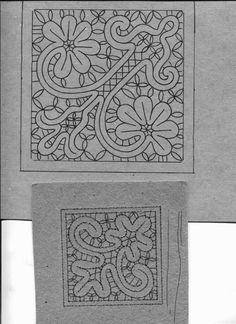 Disegni a Tombolo Filet Crochet, Irish Crochet, Crochet Lace, Needle Lace, Needle And Thread, Bruges Lace, Romanian Lace, Bobbin Lace Patterns, Lacemaking