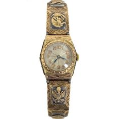 Gold and Silver Wristwatch Belonging to Roy Rogers . Mexico circa 1940s