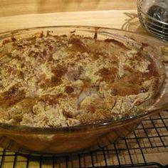 Easy Peach Crisp I Allrecipes.com