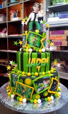 Mucking Afazing Ben 10 birthday cake by Charly's Bakery Cape Town, South Africa!