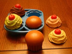 Fisher Price cupcake set..had these! I loved how these smelled! Is that weird!?