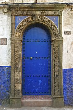 Blue Door with Stone Surround, Essaouira, Morocco