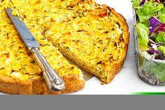 Savory pie with yogurt crust Cheesecake Tarts, Savory Muffins, Greek Cooking, Savoury Baking, Food Categories, Greek Recipes, Pie Dish, Macaroni And Cheese, Vegetarian Recipes