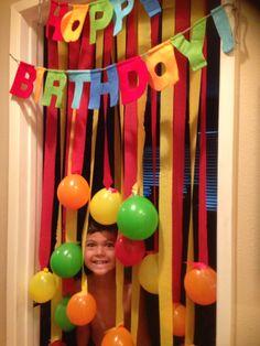 Birthday Balloon Surprise, Boys 1st Birthday Cake, Hot Wheels Birthday, Barbie Birthday Party, Teacher Birthday, Rainbow Birthday Party, Unicorn Birthday Parties, Birthday Party Themes, Birthday Door Decorations