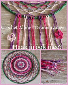 Crochet Along – Dromenvanger – week 1 – Hobbydingen Crochet Potholders, Crochet Squares, Crochet Doilies, Mandala Crochet, Quick Crochet, Crochet Baby, Free Crochet, Thread Crochet, Crochet Hooks