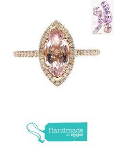 Marquise Morganite Engagement Ring Pave Diamond Wedding 14K Rose Gold 5x10mm https://www.amazon.com/dp/B01H6CU8QK/ref=hnd_sw_r_pi_dp_hs2yxbP8Q5SE4 #handmadeatamazon