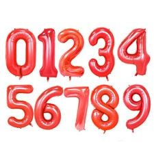 Red Mylar Foil Balloon Huge Number balloons Letter Float w Helium Birthday Number Balloons, Letter Balloons, Foil Balloons, Numbers, Neon Signs, Lettering, Birthday, Balloon Ideas, Pink Fish