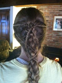 Medieval inspired 5-strand French braid