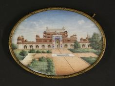 An oval portrait miniature on ivory, mid-19th century, robably the Red Fort, Delhi, 10 x 14cm Sold for £520 on 14th March 2017