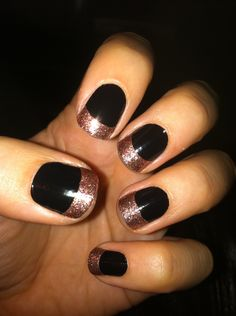 """incoco ~ """"midnight"""" with """"penny rose"""" tips"""