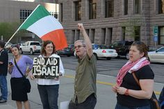 Minneapolis protest against Israel occupation of Palestine and USA aid to Israel