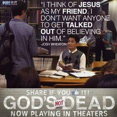 God's Not Dead - Shane Harper as (Josh Wheaton) in God's Not Dead now playing in theaters  - Pure Flix - Christian Movies - #PureFlix #ChristianMovies #ShaneHarper #PaulKwo www.PureFlix.com www.GodsNotDead.com