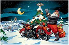 Harley-Davidson Christmas Holiday 2010 Collection by John Lambert at Coroflot.com