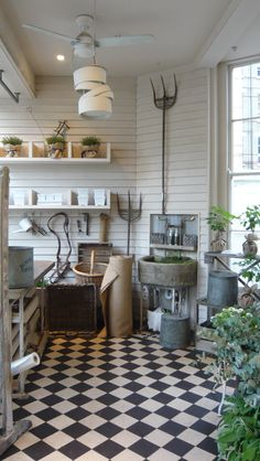 classic garden room at Daylesford Organic's shop in London