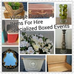 Vintage Decorating  Specialized Boxed Events   Items For Hire
