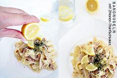 Bandnudeln mit Zitronen-Thunfischsauce
