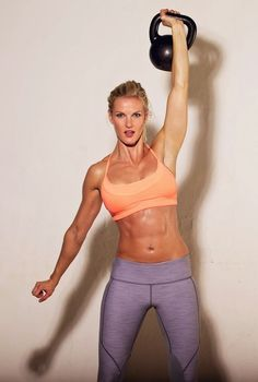 Here is a great kettlebell circuit that will surely leave you out of breath, but in great shape