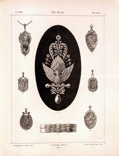ARTEFACTS - antique images: Jewelry Bookplate —