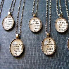 Dictionary Necklace.