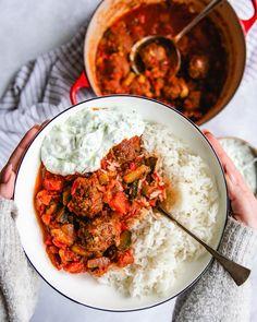 Yams, Greek Recipes, Healthy Recipes, Healthy Food, Clean Eating, Curry, Good Food, Food Porn, Snacks