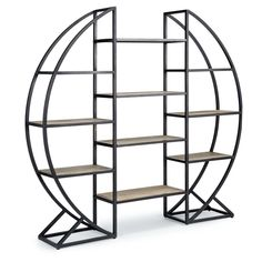 Hoop Etagere Blackened Iron by Regina Andrew 55-62-0196