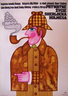 BILLY WILDER - THE PRIVATE LIFE OF SHERLOCK HOLMES - ORIG.- POLISH CINEMA POSTER