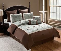 VCNY Delaney 8-Piece Embroidered Comforter Set, Queen, Seafoam VCNY http://www.amazon.com/dp/B008BS1296/ref=cm_sw_r_pi_dp_.3B2wb1PY6T49