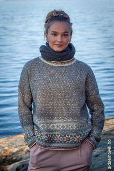 Fair Isle Knitting Patterns, Fair Isle Pattern, Sweater Knitting Patterns, Knit Patterns, Handgestrickte Pullover, Norwegian Knitting, Hand Knitted Sweaters, Knitwear, Knit Crochet