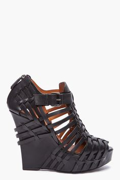 Givenchy cutout leather wedges