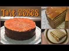 Tort DOBOS - rețetă originală | Raluca Gheorghe - YouTube Deserts, Muffin, Food And Drink, Sweets, Cheese, Breakfast, Cake, Youtube, Food Cakes